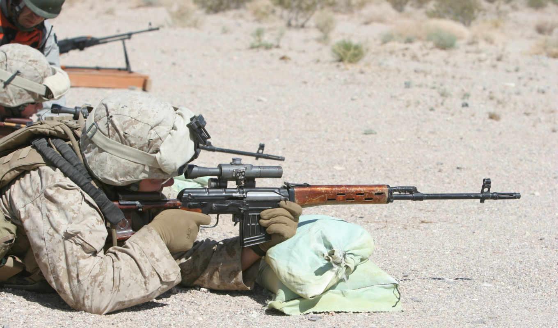 американский, стрельба, свд, морпех, война,