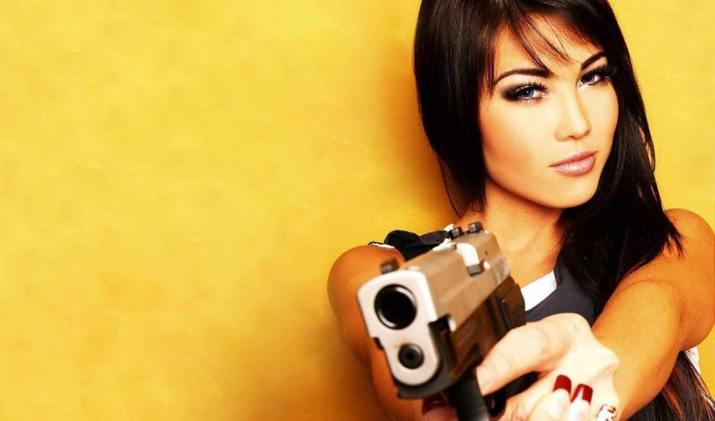девушки, kim, лиза, fleming, пистолет, девушка, girls, категория,