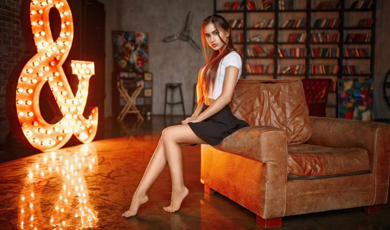 sit, диван, девушка, женщина, кресло, human, музыка, top, black, side, фамилия
