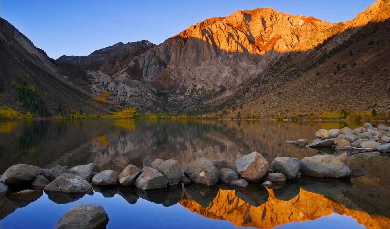 lake, convict, mount, morrison, гора, california, usa,