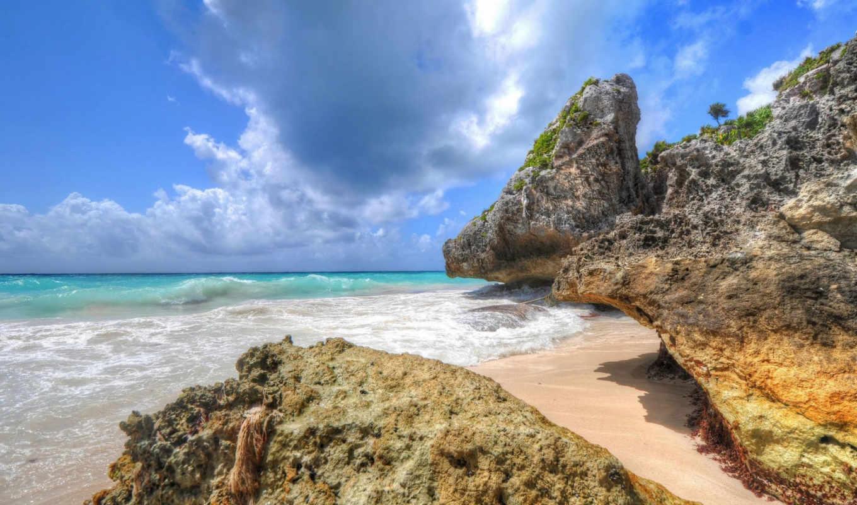 природа, побережье, море, tropics,
