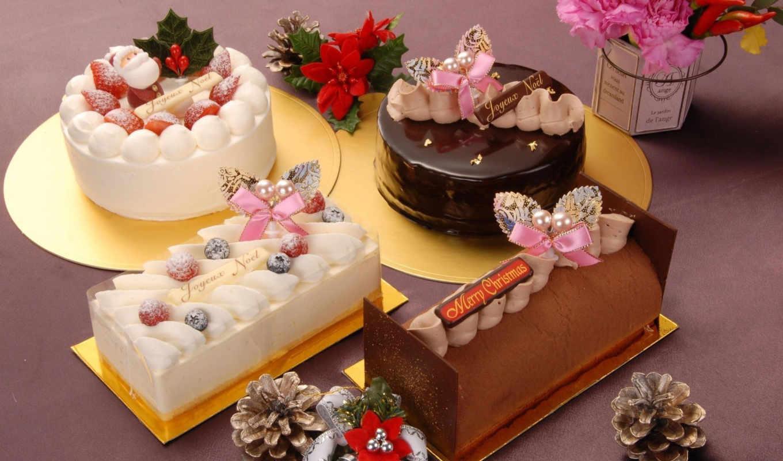 торт, новый год, мороженое, korobok, рождественский, картонный