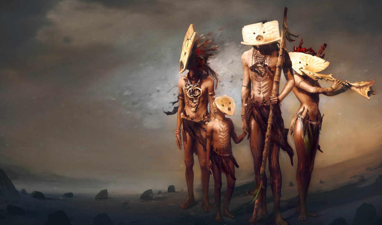 индейцы, племя, рисунок, dust, люди, аборигены, этнос, project,