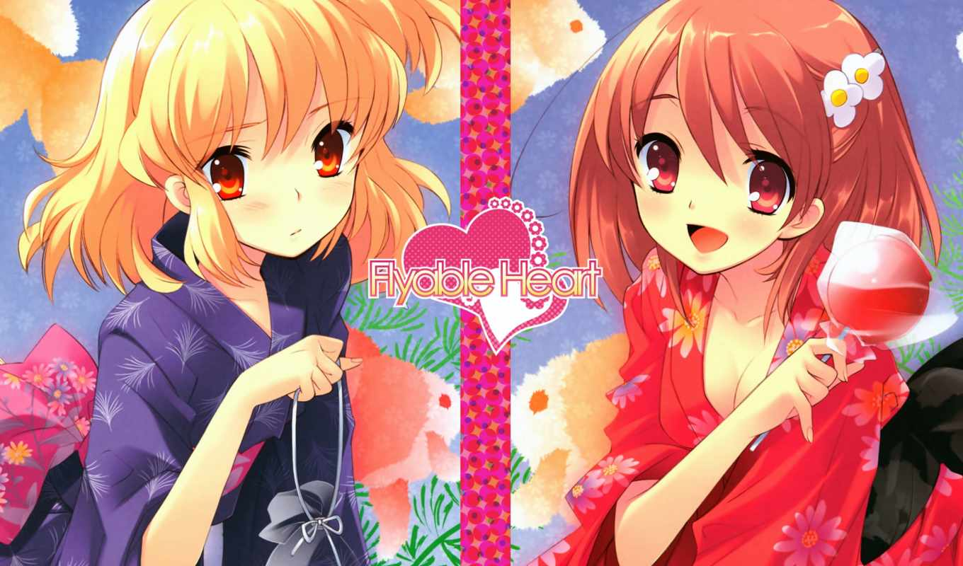 heart, flyable, sumeragi, amane, noiji, itou, konachan, inaba, yui, clothes, japanese, hair, favorites, yukata, anime, image,