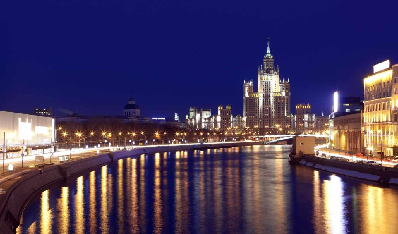 москва, города, archi, кремль, ночная,
