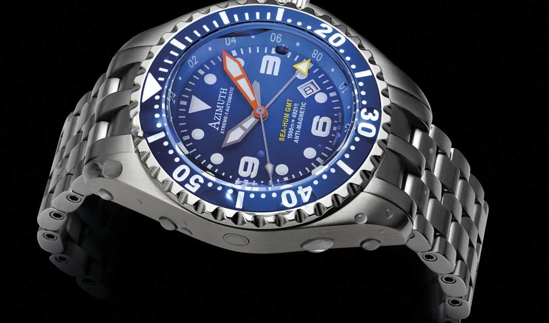 azimuth, море, hum, xtreme, часы, gmt,