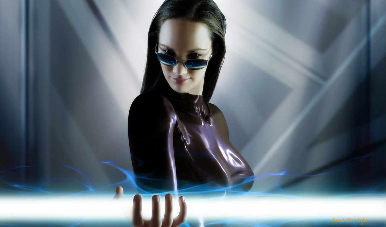 robot, подборка, красивых, девушек, очки, девушка, брюнетка, красивые, взгляд,