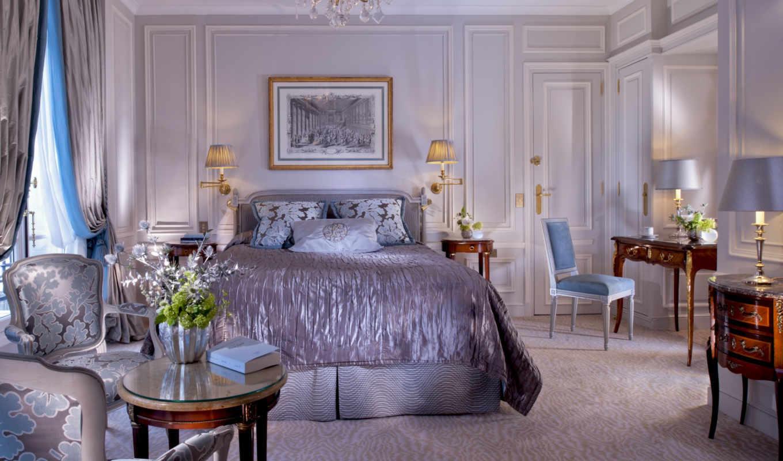 спальня, кровать, интерьер, design,