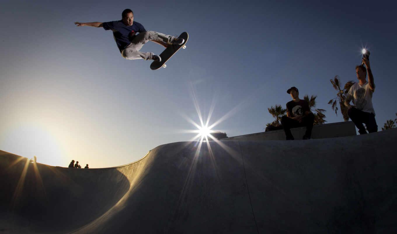 skateboard, рампы, skateboarding, прыжок, адреналин,