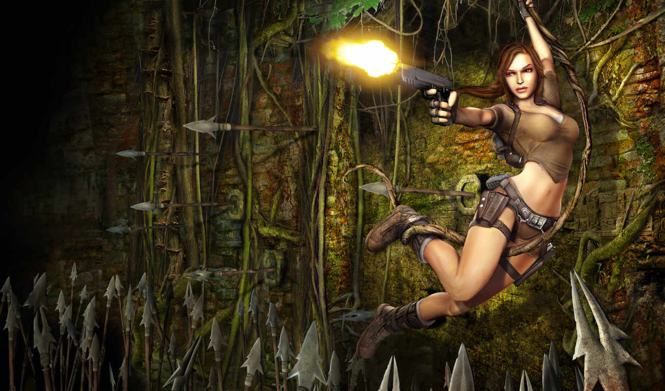tomb, raider, game, lara, free, croft, anniversary,