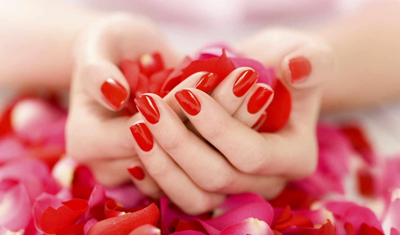лак, руки, лепестки, красный, маникюр, нежно, you, картинка, petals, действует, гинекологический, hands, код,