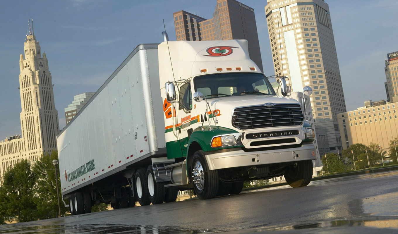 sterling, truck, wagon, дождь, город, trucks,