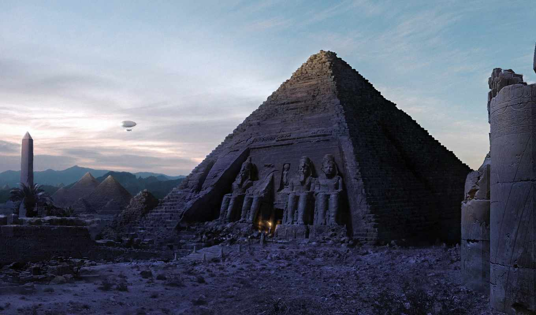 пирамида, египетский, египте, пирамиды,