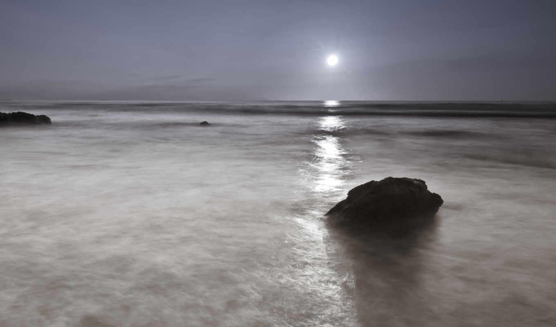 море, ночь, луна, осень, festival, камни, mid,
