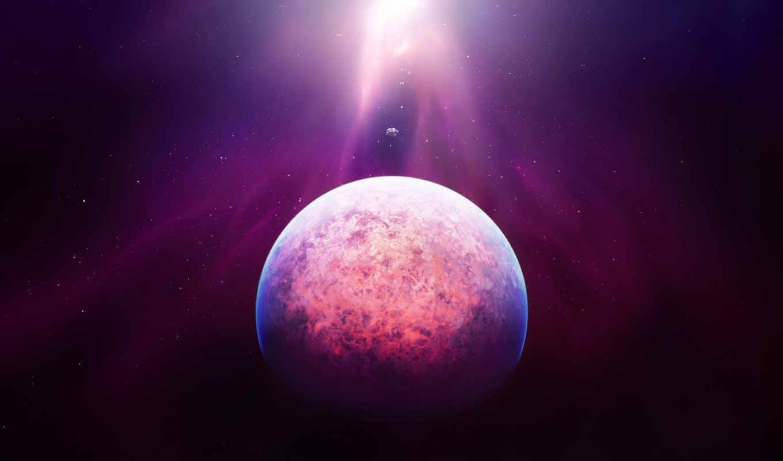 планета, сияние, космос, touch, heavens,