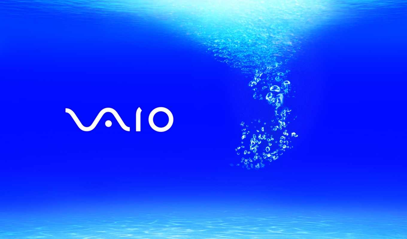 vaio, sony, blue, bubbles, water