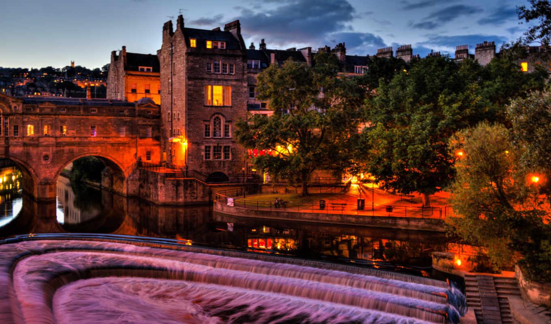размере, истинном, обою, смотреть, ночь, великобритания, города, англия,