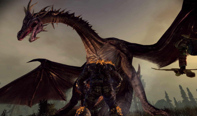 дракон, скриншот, другие, tenshi, dragones, dragons, age, origins,
