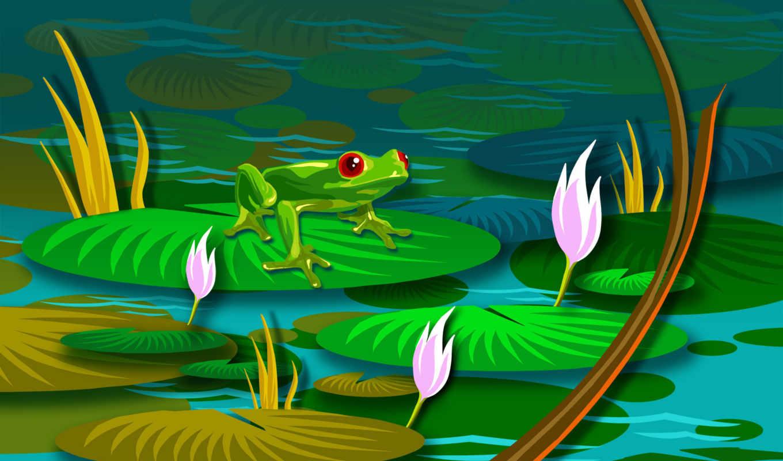 pool, lily, desktop, hayvan, resimleri, anime, resmi, frog, kurbağa, click,