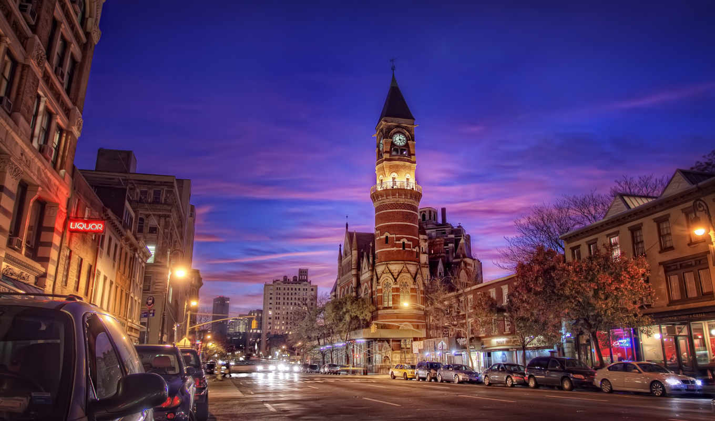 нью, york, ночь, full, oboi, города,
