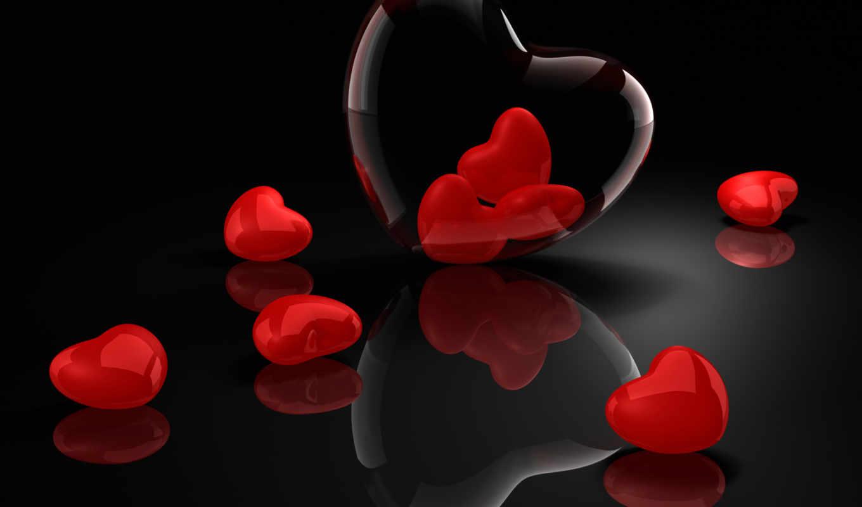 святого, валентина, день, сердечки, many, февр,