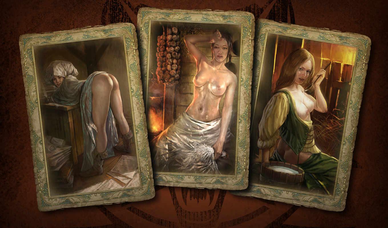 ведьмак, карты, девушки, игры, смотрите,