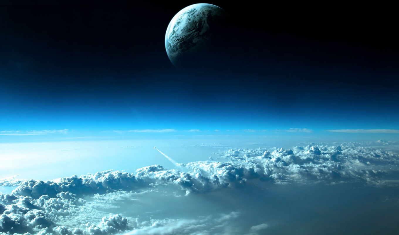 планета, облака, galaxy, космос, samsung, марта, высоком,