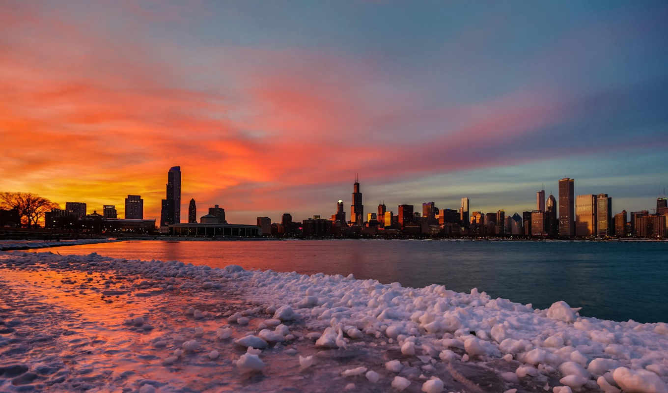 chicago, winter, февр, high, resolution, this, free,