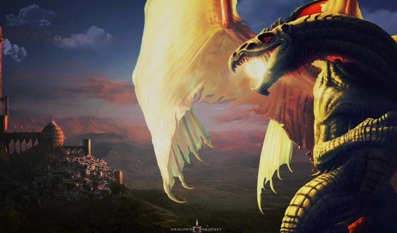 дракон, драконы, красивые, животные,