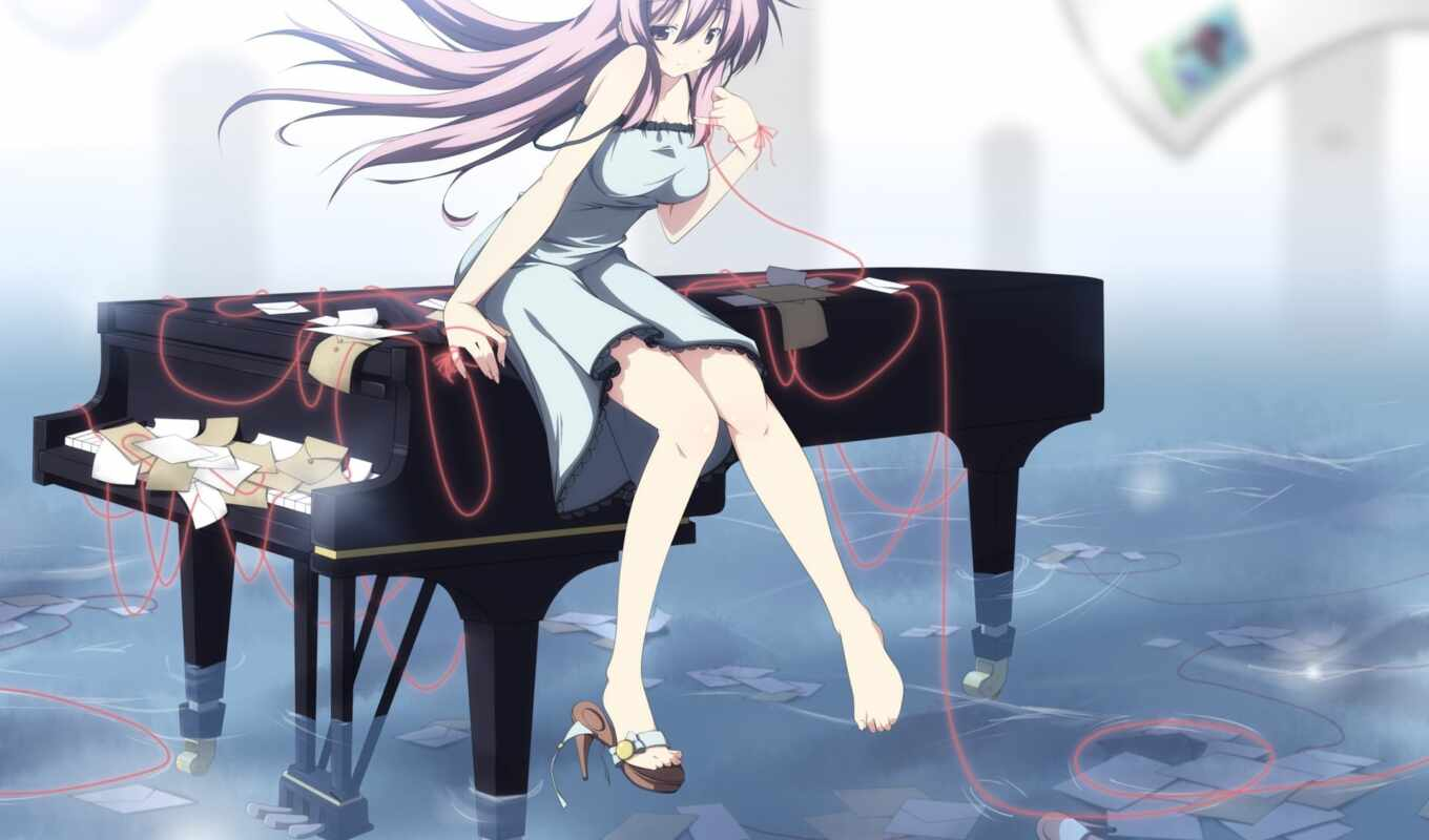 anime, девушка, piano, играет, manga, музыка, pinterest, royale, vocaloid,