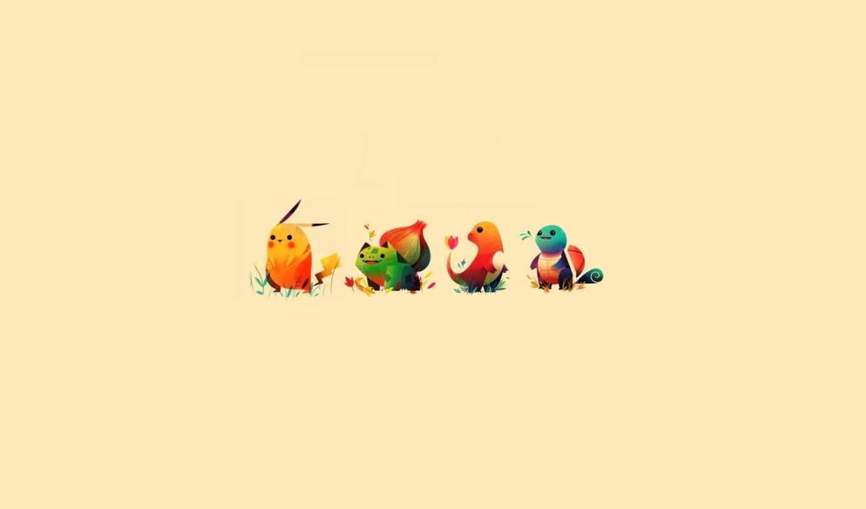 покемон, пикачу, бульбазар, чермандер, bulbasaur, charmander,