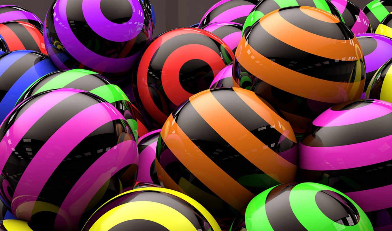 шары, отражение, полоски, картинка, strips, digital,