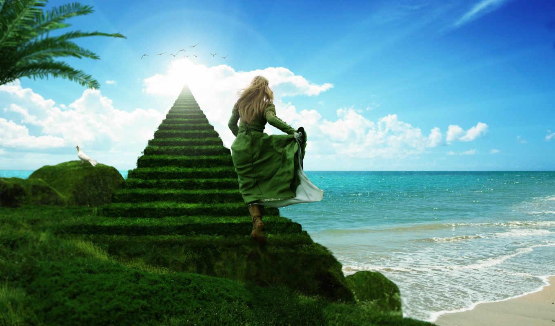 небо, лестница, more, поступок, devushka, милосердный, каждый, ступень, лестницы, ведущей, небесам,