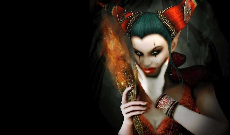mujer, payaso, pantalla, witch, fondos, you, del, desktop, bruja,