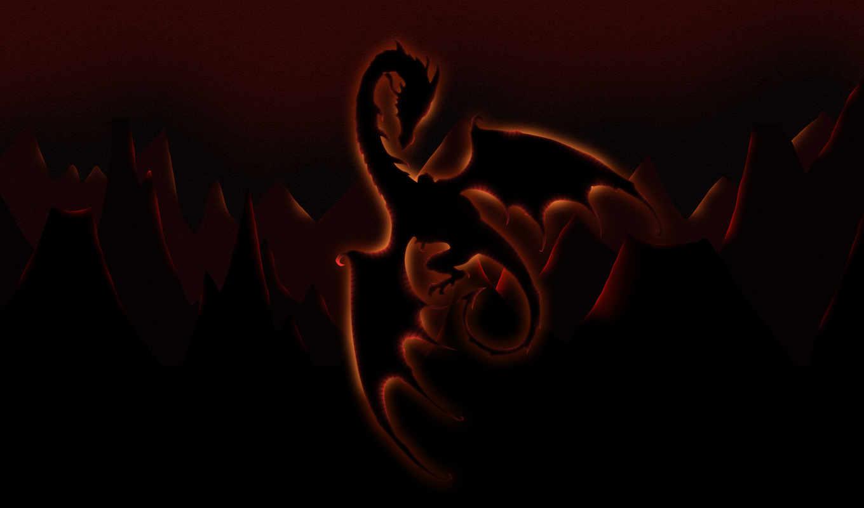 дракон, рисунок, свечение, картинка, графика,