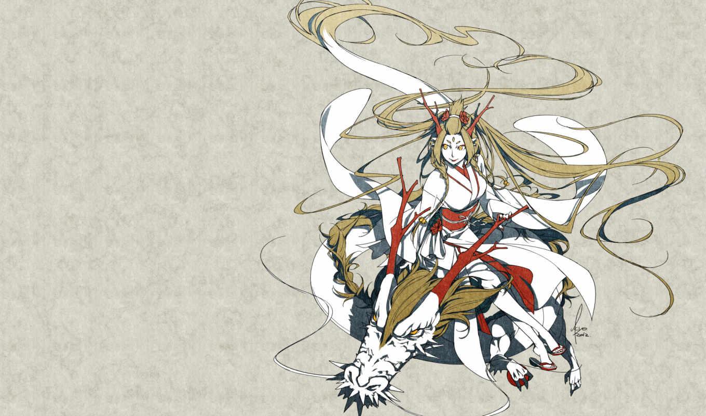 japanese, clothes, eyes, kimono, yellow, braids, kyo, аниме, dragon, изображение, картинок, picsfab, фабрика,
