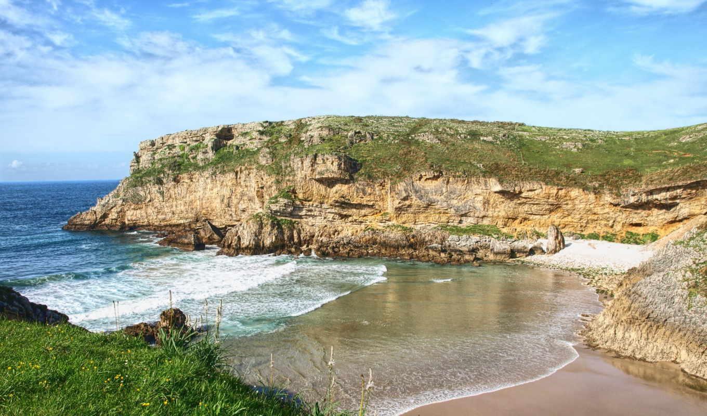 испания, природа, побережье, landscape, cantabria, bay,