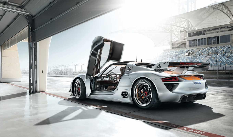 porsche, rsr, car, concept, спорткар, дверь, открыть, центр, суперкар,