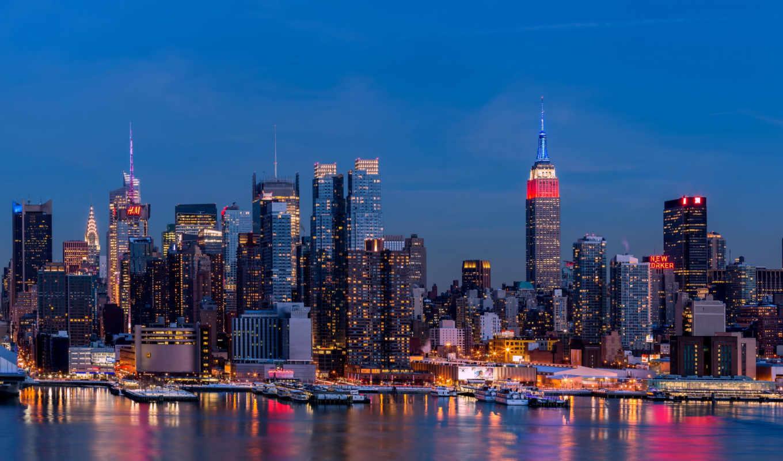 скинали, город, ночь, manhattan, нью, york, города, фартук,