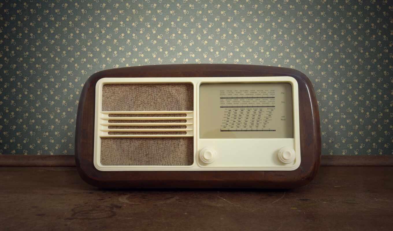 радио, ретро, старый, стиль, цветы, classic, дерево