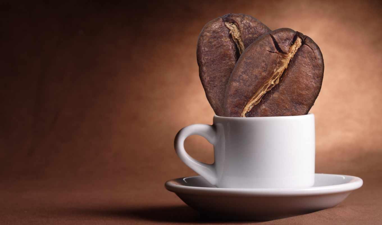 кофе, зерна, чашка,