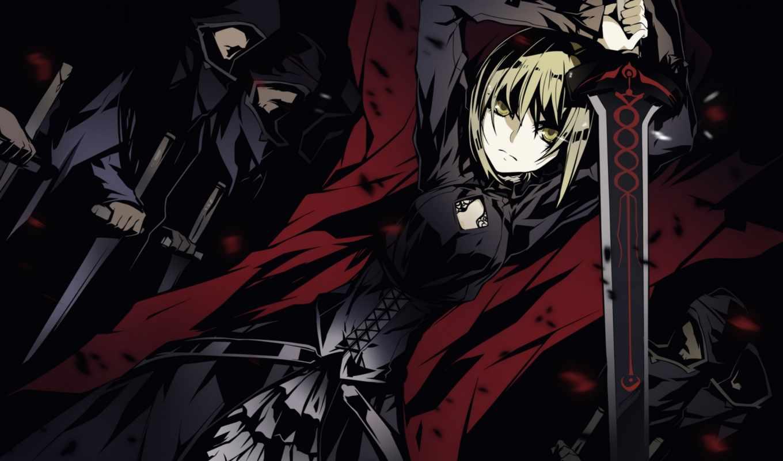 anime, меч,