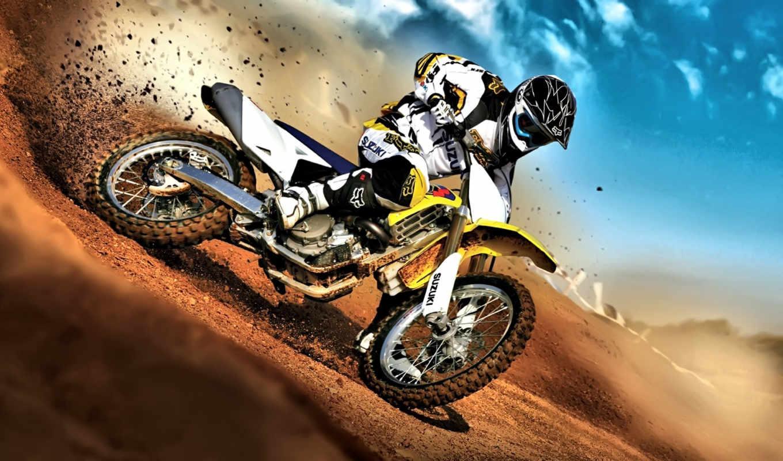мотокросс, мотоцикл, спорт,