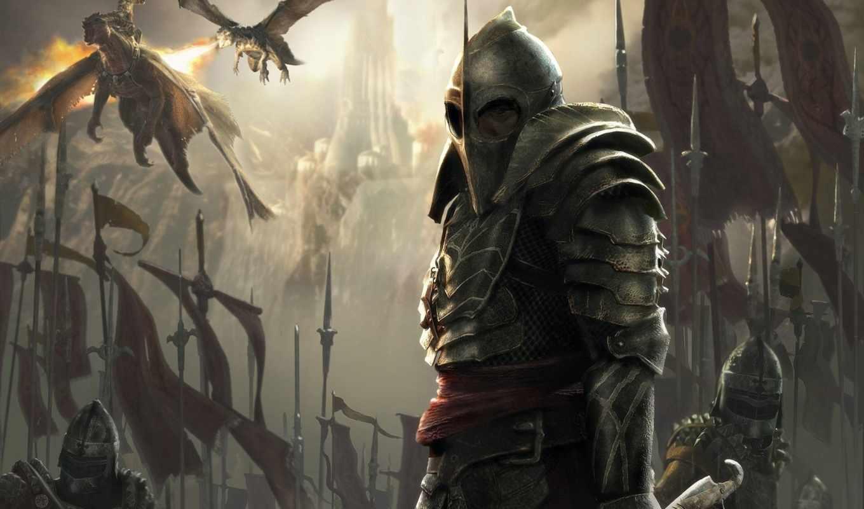 fantasy, воин, драконы, рисунки,