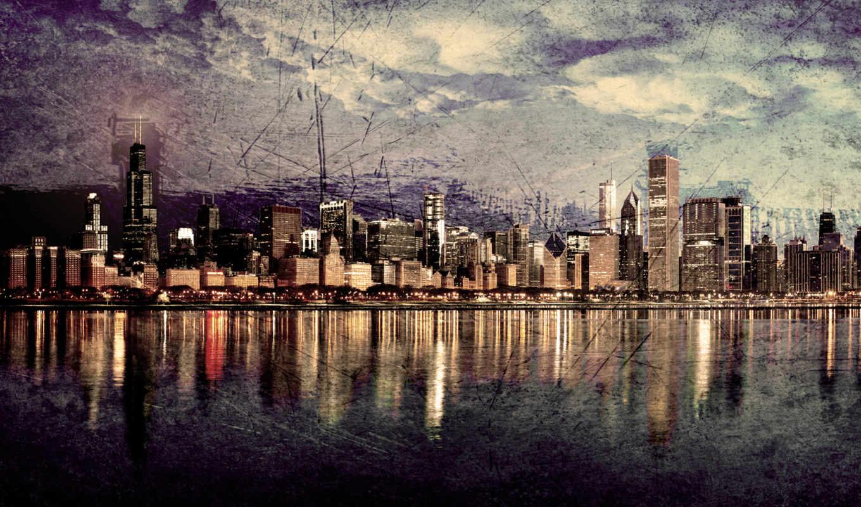 chicago, skyline, high, resolution,