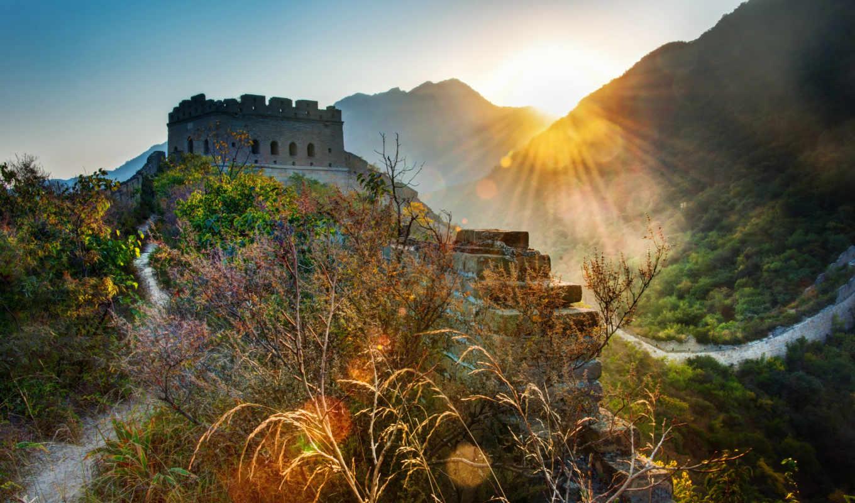 china, great, стена, китай, kartinka, ratcliff, trey, пейзаж, стена, флаг,