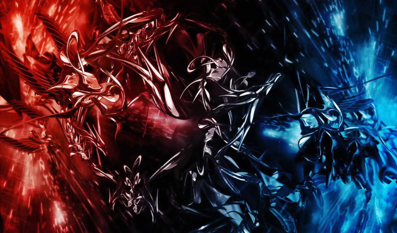 красное, абстракции, синее, лицо, абстрактные, прекрасное, нарисованное, red,