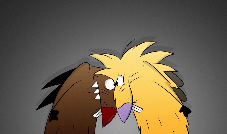 angry, beavers,