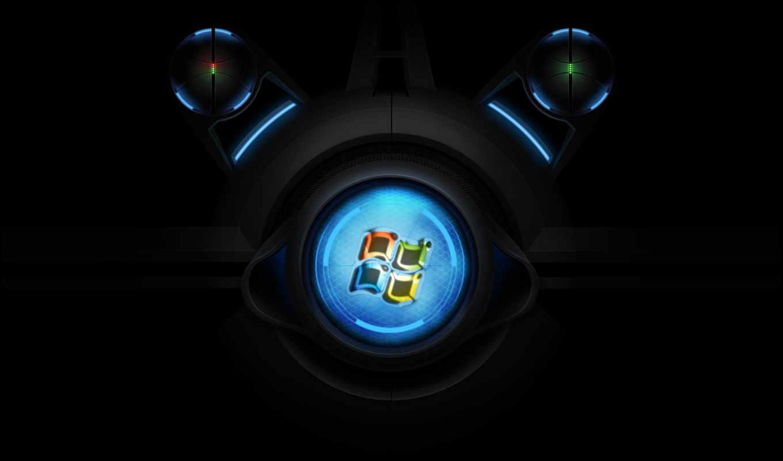 windows, лого, экран, круглый