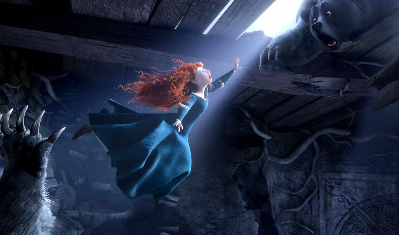 brave, disney, merida, pixar, медведь, movie, принцесса, сниматься, шотландия, июнь, фильма,